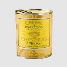 Chestnuts Spread – Net weight: 1 kg – Pack of 12 tins – Shelf life: 36 months – Ref.: 400