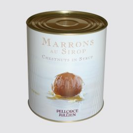Whole Turin Chestnuts – Strained net weight: 2.3 kg – Net weight per unit: 4 kg – Pack of 3 tins – Shelf life: 36 months – Ref.: 303