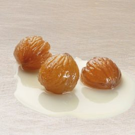 Little Decorative Candied Chestnuts in Syrup or Strained, 6-8 g – Packed in 600 g and 2.3 kg metal tins