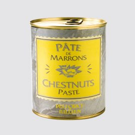 Chestnuts Paste – Net weight: 1 kg – Pack of 12 tins – Shelf life: 48 months – Ref.: 402